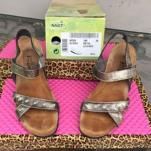 Naot sandals. Style Alyssa, metal leather